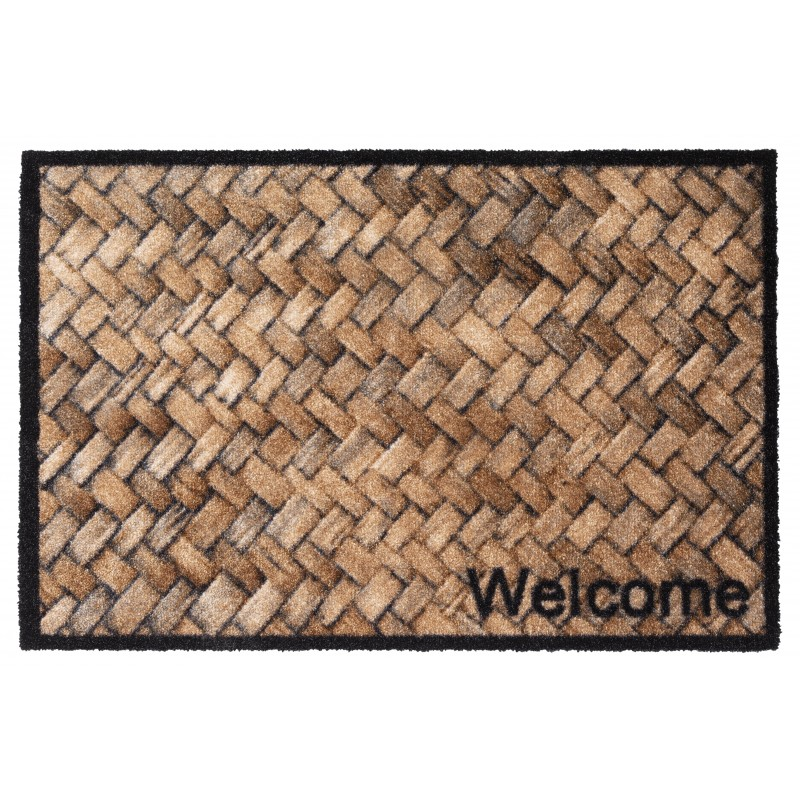 tapis personnalise osier welcome