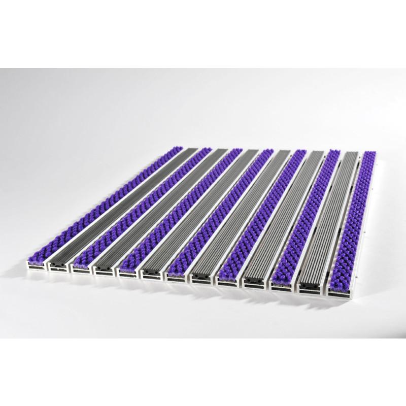 Tapis violet et noir tapis de crateur aux contours dcoups for Tapis de cuisine noir uni